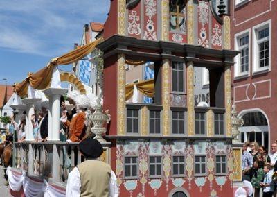 Historischer Festzug am Sonntag: Dominikus Zimmermann Wagen