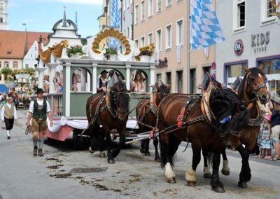 Historischer Festzug am Sonntag: Dominikus-Zimmermann-Wagen